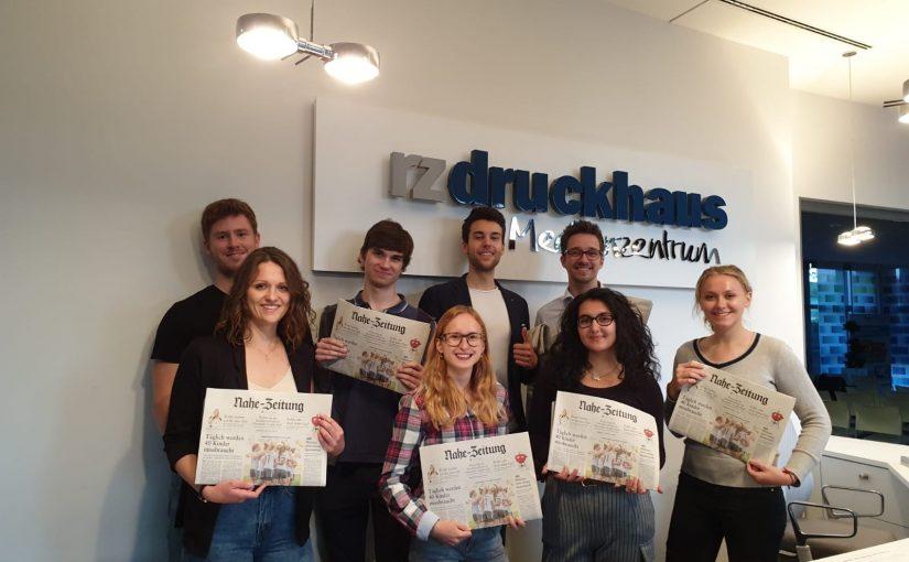 Führung durch das Druckhaus der Rheinzeitung