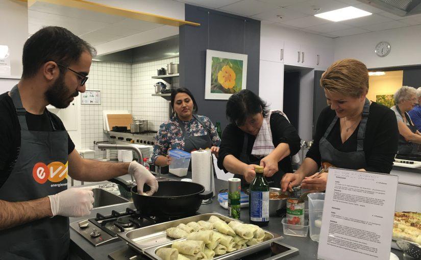 Internationaler Kochtreff im EVM-Studio